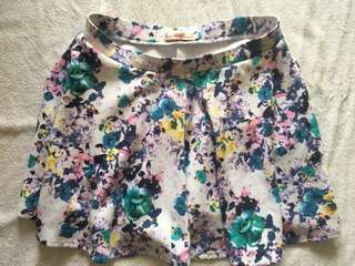 Never been kissed floral mini skirt. LARGE