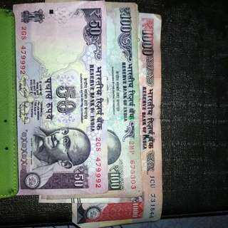OLD 1000 TO 50 INDIAN RUPEES