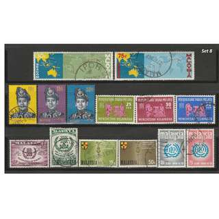 Malaya-Malaysia 1963-1971 6 complete sets of issues used <Set 8>
