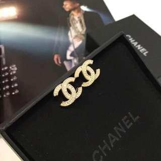 Chanel 耳環 淺金