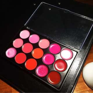 15 Color Lipstick Palette
