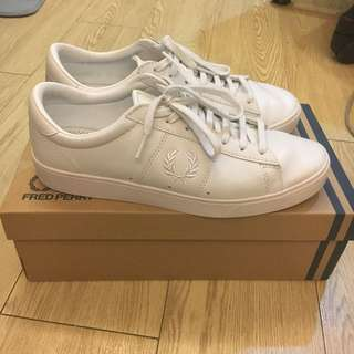 Fred perry white spencer leath 小白鞋