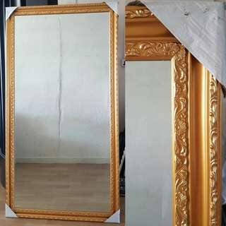 Medium Gold / Brown / White Wall Design Mirror
