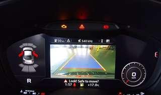 Audi TT cockpit reverse camera
