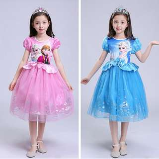 Girls Elsa Frozen Princess Dress Costume Anna Party Fancy Dress cosplay Costumes