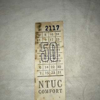 Bus ticket from the 70's
