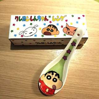 RARE!!! PREORDER FOR 4DAYS ONLY!! DIRECT IMPORT FROM JAPAN!! 100% AUTHETNIC CRAYON SHIN CHAN'S SOUP/NOODLE SPOON!! LOOK AT CUTE SHIN CHAN WHILE UR HAVING YOUR MEAL!! :D SUPER KAWAII & RARE!! ONLY AVAILABLE IN JAPAN!! SHIN CHAN'S FAN!! HURRY!! ORDER NOW!!