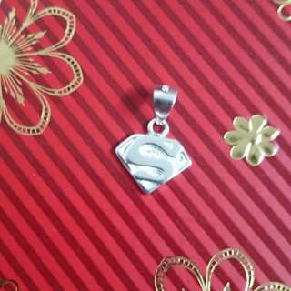 Genuine 925 Sterling Italy Silver Superman Pendant