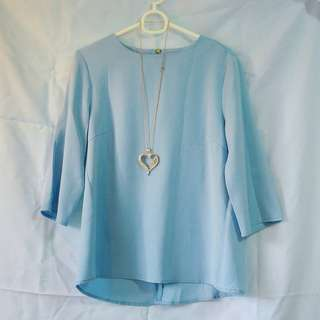 REPRICED! Round Neck Blouse