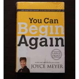 You Can Begin Again by Joyce Meyer (Hardbound)