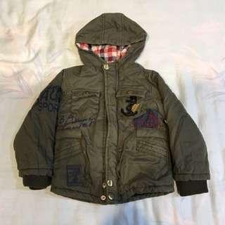 $100男童內刷毛保暖軍風外套