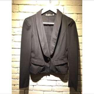 🚚 二手~短版顯瘦修身西裝外套