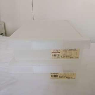 Muji 無印良品 收納盒 雜物盒 盒 2個