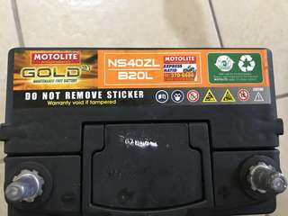 Motolite Gold Battery - NS40ZL