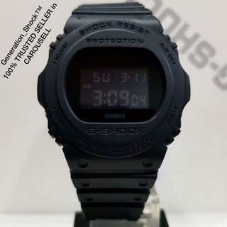 NEW🌟ARRIVAL CASIO GSHOCK 200m DIVER WATCH :1-YEAR OFFICIAL VALID WARRANTY: 100% Originally Authentic G-SHOCK Resistant In DEEP BLACK-OUT Stealth Matt ILLUMINATOR LIGHT Best Gift For Most Rough Users & Unisex: DW-5750E-1BDR / DW-5600BB / DW-5750 / DW5750