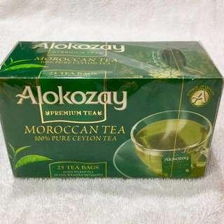 Alokozay杜拜購.為阿拉伯國家中最好最大茶品牌.摩洛哥薄荷綠茶手摘茶.減脂助消化最有效!2019年12月到期.25包入