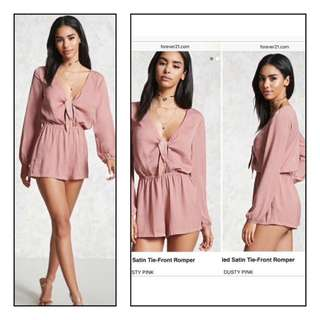 Forever 21 satin romper in Dusty Rose size medium