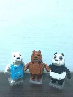 We bare bears nanoblock