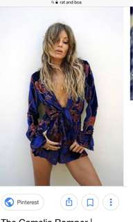 Rat and Boa Playsuit