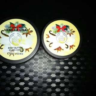 Body Shop Body Butter,Body Scrub (Vanilla Chai)