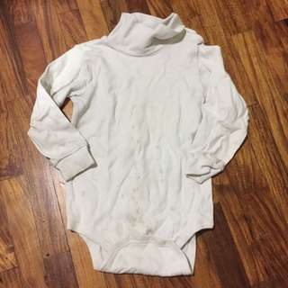 The Children's Place White Turtleneck Onesie Size 3T Needs Bleaching P50 Only