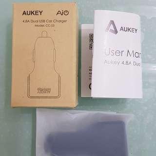 Aukey CC-S3 4.8A Dual USB Car Charger