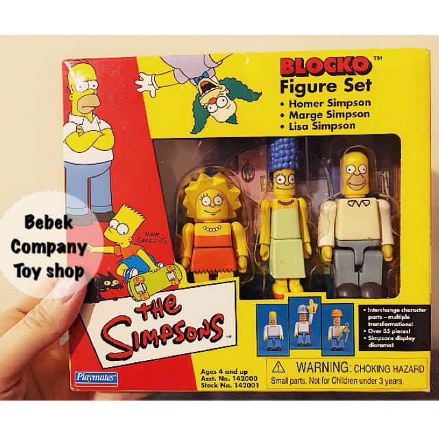 第2組》2002年 Playmates Blocko The Simpsons 辛普森家庭 辛普森 全新盒裝 絕版玩具