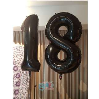 """40"""" Number Foil Balloons (Helium)"""
