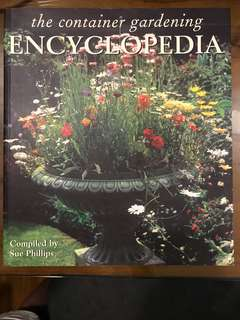 Coffee table book - The Container Gardening Encyclopedia
