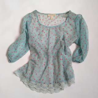 Forever 21, see thru, Size L