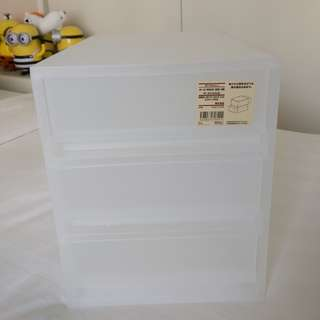 Muji 無印良品 收納盒 雜物盒 三筒櫃