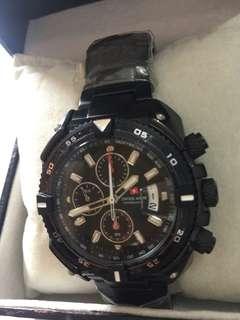 Jam tangan pria original branded SWISS ARMY HC  1079 G4 diameter 42mm