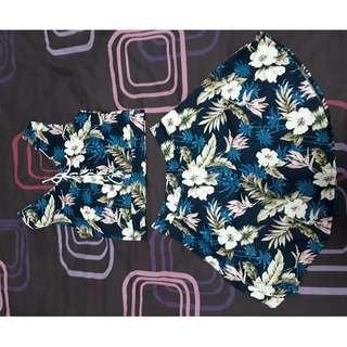 2 pieces floral set