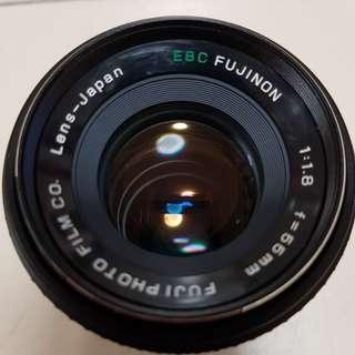 Fujinon EBC 55mmf1.8 manual focus with m42 to fujifilm X mount adaptor