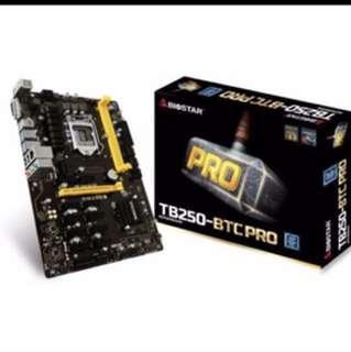 (Ready stock )Biostar TB250 BTC Pro 12 pcie slots