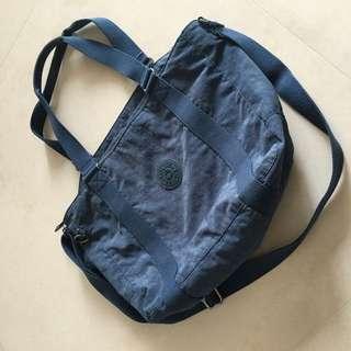 Kipling手提袋藍色肩背斜背包包
