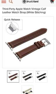 drwatchband (Chocolate Brown) for 38mm Apple Watch