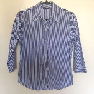 3/4 Sleeved Striped Polo