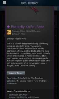 Selling butterfly fade FN 72% market price!!