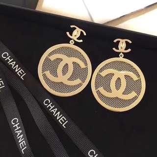 Chanel 耳環 金屬限量版