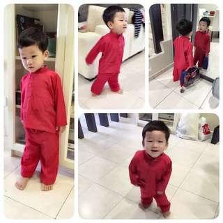 Preloved red baby melayu