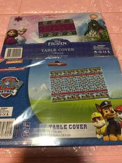 Instock authentic paw patrol /frozen party table cloth brand new