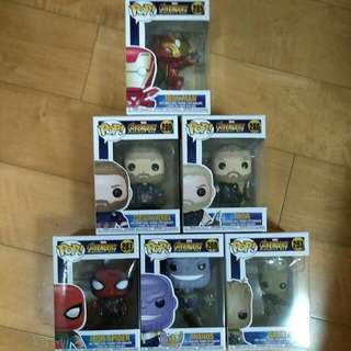Funko Pop Infinity War Set Of 6