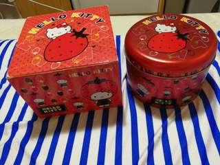Hello kitty 馬克杯連鐵罐盒