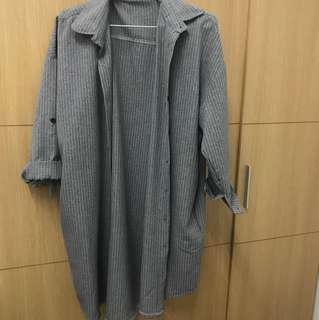 長版襯衫可單穿或當外套