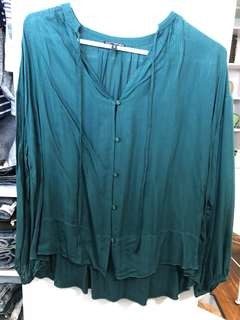 Express Emerald Blouse - Preloved, Excellent Condition