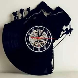 $195 黑膠唱片 黑膠碟 掛鐘 牆鐘 wall clock home vinyl record 攀岩石