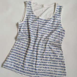 Chico's Stripes Top, Size S