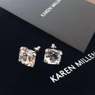 (NEW) Karen Millen Diamanté Eye Earrings