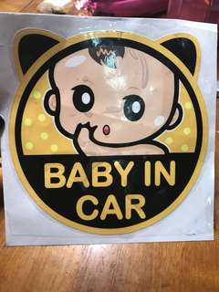 Car Sticker - baby in car